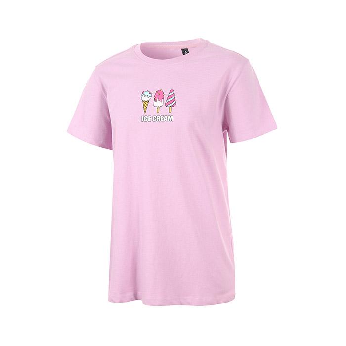 아이스크림 프린팅 반팔 면티셔츠