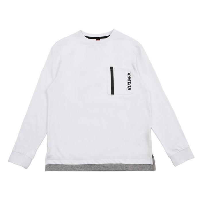 백라인 전사프린팅 레이어드 티셔츠