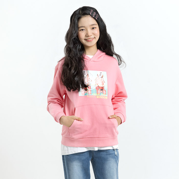 롤러스케이트 프린팅 후드 티셔츠