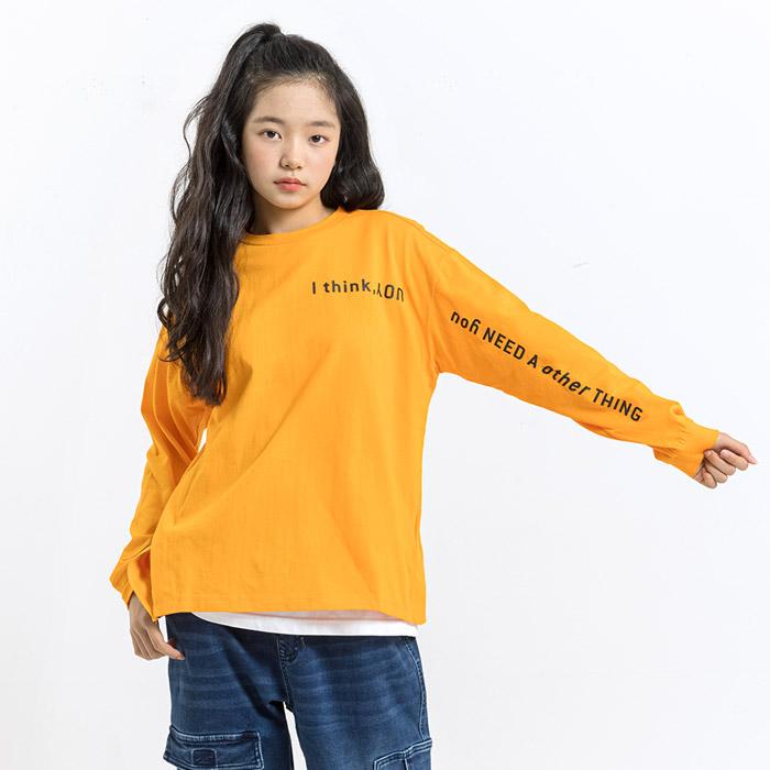 사선트임 테이핑 긴팔 티셔츠