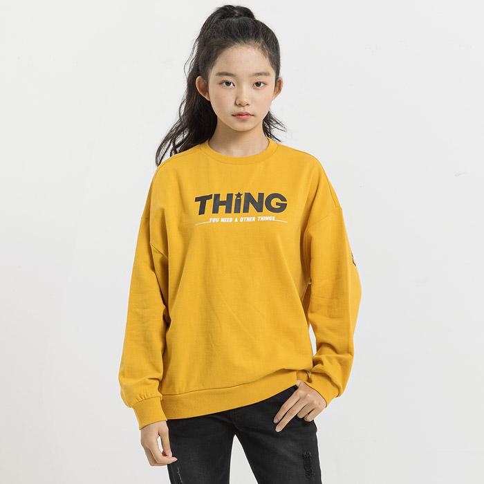 레터링 그래픽 루즈핏 쭈리 맨투맨 티셔츠