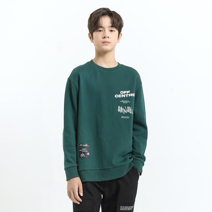 스트릿 로고 오버핏 맨투맨 티셔츠