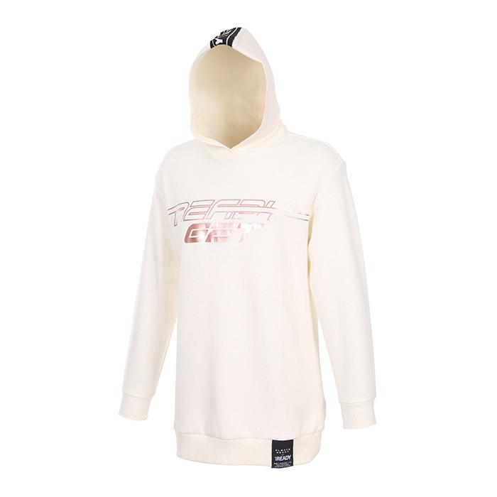호일 프린팅 특양면 후드티셔츠