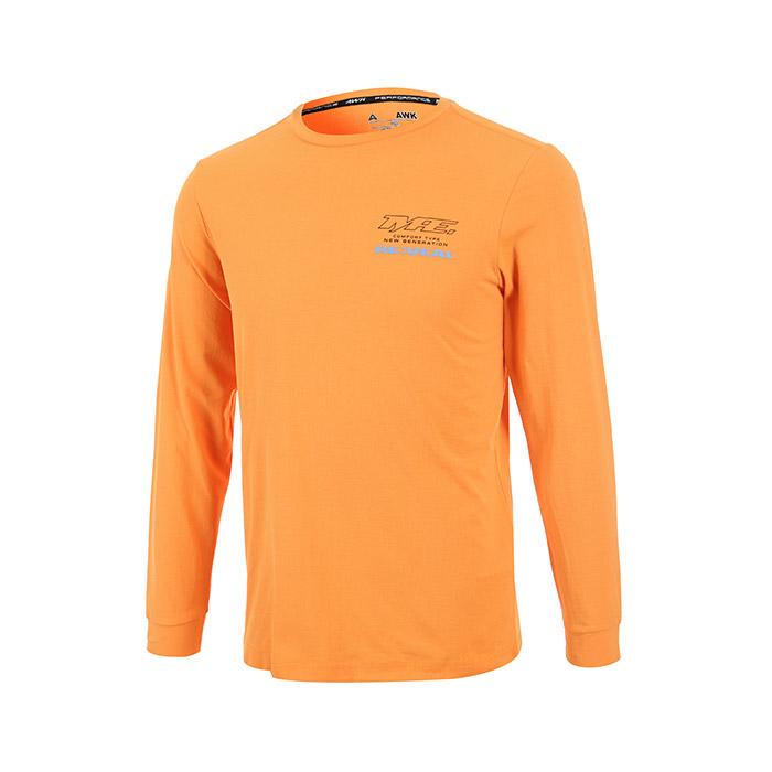 백프린팅 면터치 세미오버핏 긴팔티셔츠