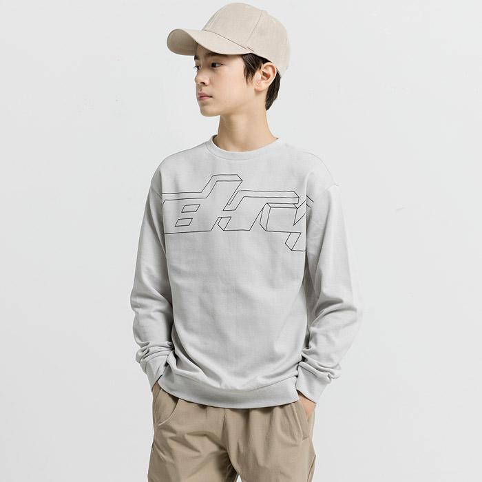 빅로고 오버핏 분또 맨투맨 티셔츠
